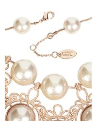 Vivienne Westwood - Pink Isolade Rose Gold Tone Necklace - Lyst