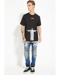 Forever 21 - Black Versalution Christ The Redeemer Graphic Tee - Lyst