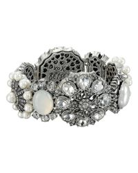 Betsey Johnson | Metallic Something New Rhinestone Stretch Bracelet | Lyst