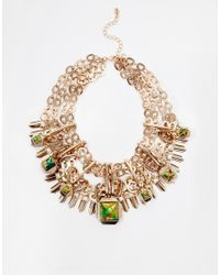 ALDO | Green Briralia Chain & Stone Necklace | Lyst