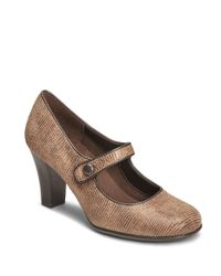 Aerosoles | Brown Role Through Mary Jane Pumps | Lyst