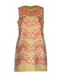 RED Valentino | Orange Short Dress | Lyst