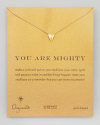 Dogeared | Metallic Mighty Golden Stud Pendant Necklace | Lyst