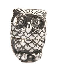 Trollbeads | Metallic Sterling Silver Night Owl Pendant | Lyst