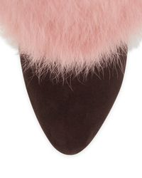 Giuseppe Zanotti - Brown Furry Heeled Boots - Lyst