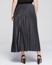 Marina Rinaldi - Gray Plus Occhiare Pleated Maxi Skirt - Lyst