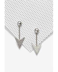 Anita - Metallic K Robinhood Nickel Plated Arrow Earrings - Lyst