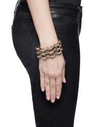 Lulu Frost | Metallic 'veratrum' Crystal Pavé Arch Chain Bracelet | Lyst