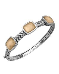 Lord & Taylor | Metallic Sterling Silver And Quartz Doublet Bangle | Lyst
