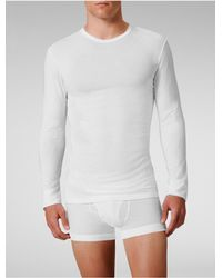 Calvin Klein | White Underwear Micro Modal Long-sleeve Crew for Men | Lyst