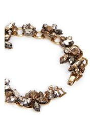 Erickson Beamon - Metallic 'golden Rule' Crystal Foliage Bracelet - Lyst