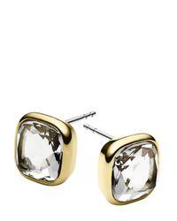 Michael Kors | Metallic Cushion Stone Stud Earrings | Lyst