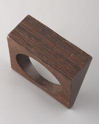 Donna Karan - Brown Angular Wood Bangle - Lyst