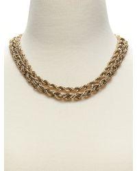 Banana Republic | Metallic Woven Chain Necklace | Lyst