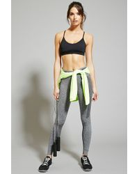 Forever 21 | Black Low Impact - Strappy Sports Bra | Lyst