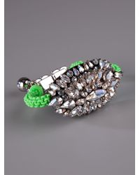 Shourouk | Green 'baraka Moonlight' Bracelet | Lyst