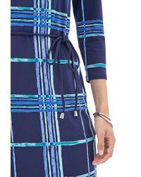 Forever 21 - Blue Contemporary Windowpane Print Shift Dress - Lyst