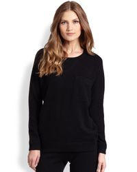 Saks Fifth Avenue - Black Cashmere Sweatshirt - Lyst