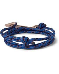 Miansai | Blue Rope And Gold-Plated Anchor Bracelet for Men | Lyst