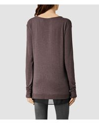 AllSaints | Purple Miro Long Sleeved Top Usa Usa | Lyst