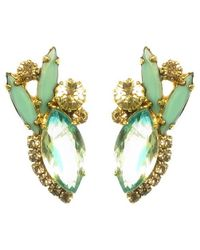 Elizabeth Cole | Blue Vale Earrings, Turquoise | Lyst