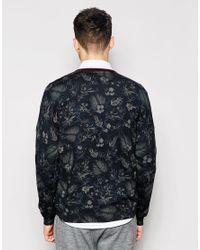 Ted Baker - Blue Floral Print Knitted Jumper for Men - Lyst