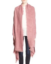 Free People - Pink 'koda' Brushed Scarf - Lyst