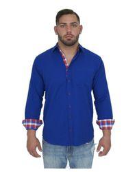 Giorgio Bellini   Blue Monaco Linen Blend Button Front Shirt for Men   Lyst