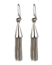 Eddie Borgo | Metallic Small Silvertone Chain Tassel Drop Earrings | Lyst