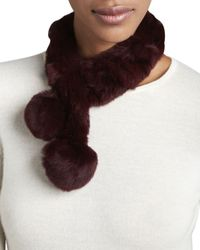 Belle Fare Purple Rabbit Fur Neck Warmer