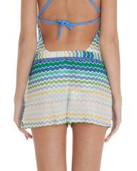 Missoni - Blue Frill Shorts - Lyst