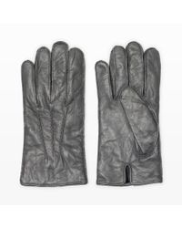 Club Monaco | Gray Washed Leather Glove for Men | Lyst