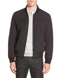 Michael Kors | Black Diamond Quilted Zip Front Jacket for Men | Lyst