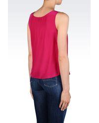 Armani Jeans - Purple Blouse - Lyst