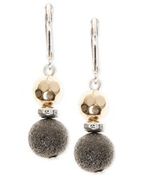 Nine West | Metallic Mixed Metal Beads Eurowire Earrings | Lyst