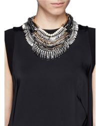 Venna | Metallic Pearly Spiked Collar | Lyst