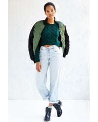 Lucca Couture | Green Cropped Sweater | Lyst