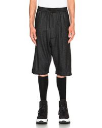 Public School | Gray Melange Knit Basic Shorts | Lyst