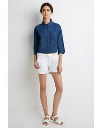 Forever 21 | Blue Cotton Denim Shirt | Lyst