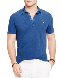 Polo Ralph Lauren | Blue Featherweight Polo Shirt for Men | Lyst
