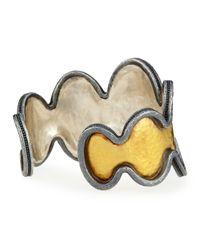 Gurhan - Metallic Two-Tone Flame Bangle Bracelet - Lyst