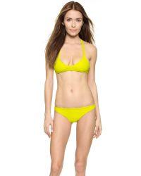 Mikoh Swimwear | Yellow Uluwatu Bikini Top - Night | Lyst