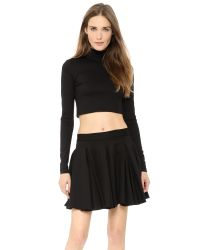 Torn By Ronny Kobo - Sulan Cropped Ponte Turtleneck Top - Black - Lyst