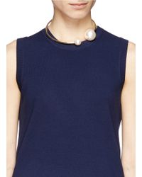 Kenneth Jay Lane - White Large Pearl Choker Necklace - Lyst