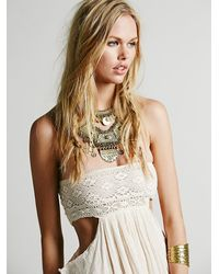 Free People - Natural Jen S Pirate Booty For Womens Smocked Drape Dress - Lyst