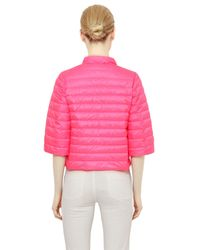 Add - Pink Quilted Nylon Down Jacket - Lyst
