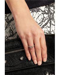 Balenciaga - Metallic Palladium-Plated Ring - Lyst