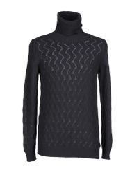 Drumohr - Gray Turtleneck for Men - Lyst