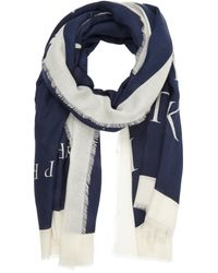 "Barneys New York - Blue Midsummer Night Sky"" Book-Print Scarf for Men - Lyst"