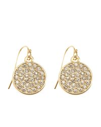 Brooks Brothers | Metallic Stone Disc Drop Earrings | Lyst